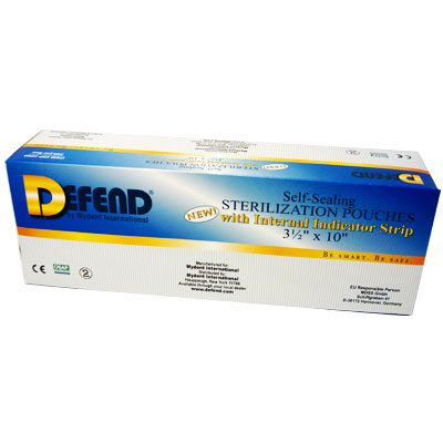 "Defend Self-Sealing Sterilization Pouches 3.5"" x 10"" Box/200"