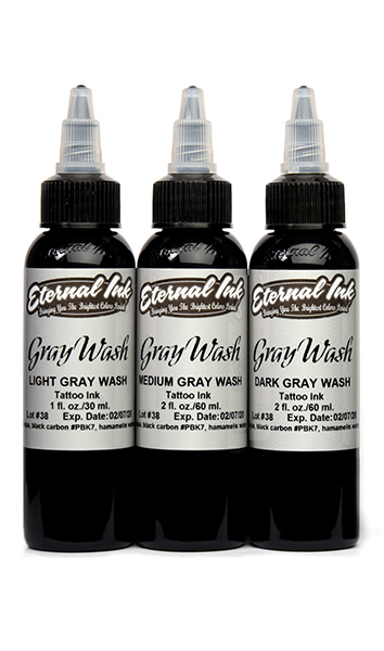 Eternal Tattoo Ink Gray Wash 3 Bottle Set