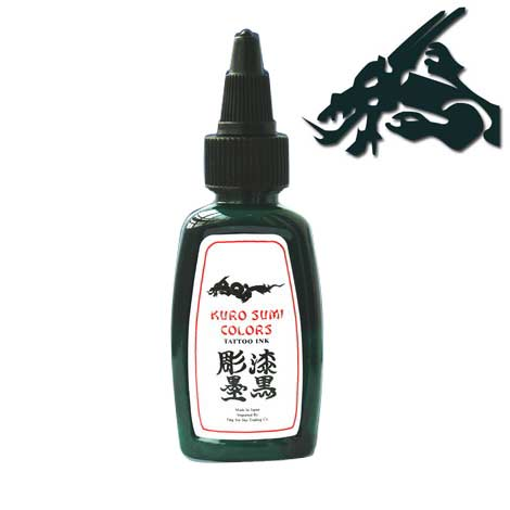 Kuro Sumi Mineraru Green Tattoo Ink
