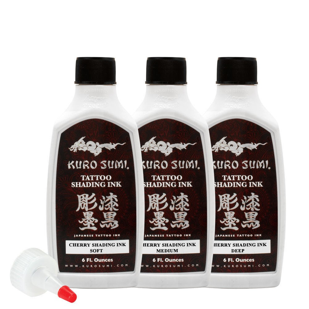 Kuro Sumi 3 Bottle Cherry Shading 6oz. Set