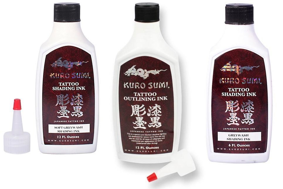 Kuro Sumi 3 Bottle Outlining & Shading 6oz. Set