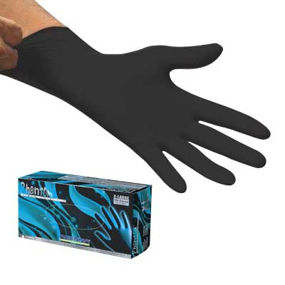 Phantom Black Latex Gloves