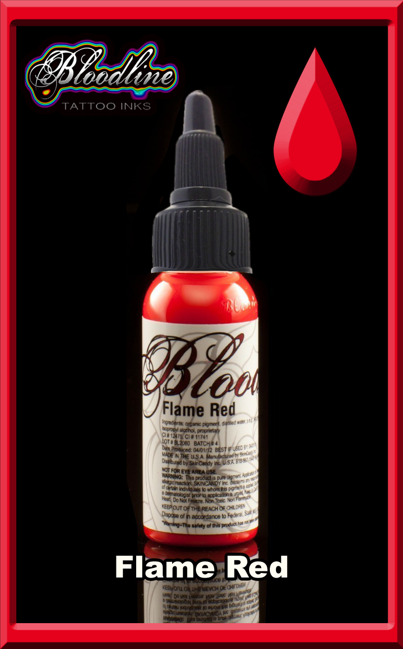 Bloodline Tattoo Ink Flame Red
