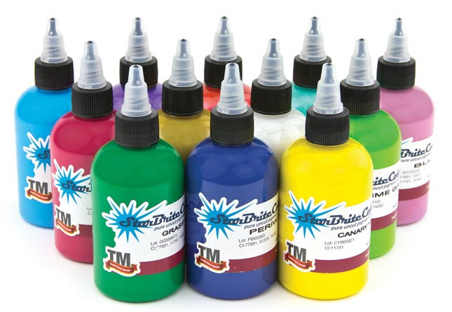 StarBrite Tattoo Ink 12 Color Solar Set