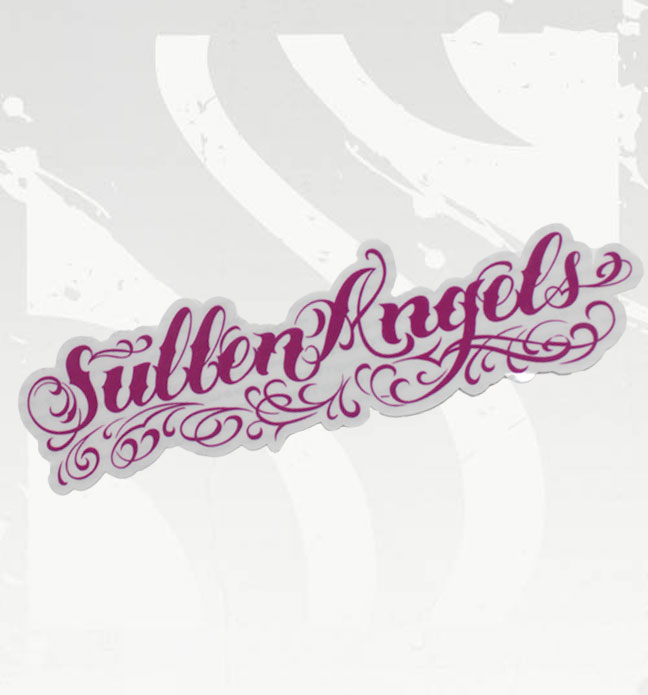 Sullen Angels Pink Lettering Sticker
