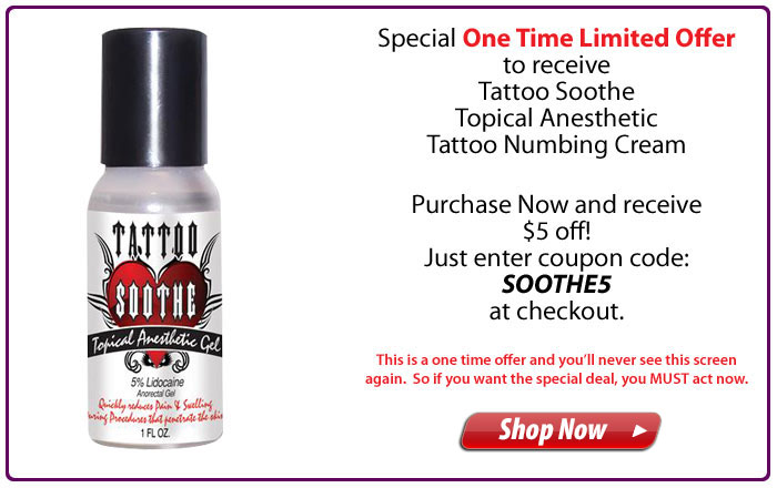 Tattoo Soothe Topical Anesthetic Gel - 1oz.
